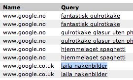 Google-søk på 'laila nakenbilder'
