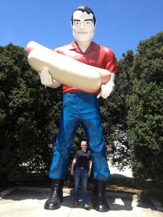 Arild og Bunyon's Statue i Atlanta, IL