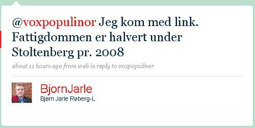Bjørn Jarle Røberg-Larsen (BjornJarle) på Twitter