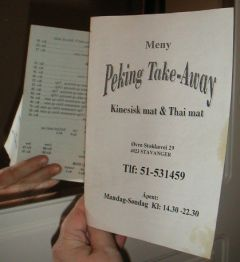 Meny - Peking Take-Away