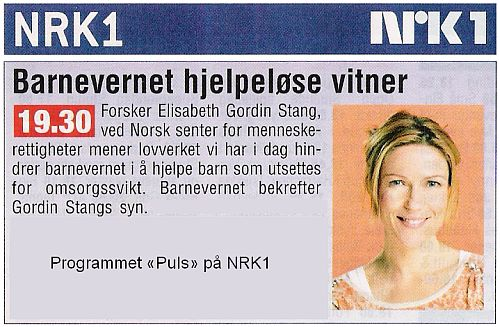Programmet Puls på NRK1